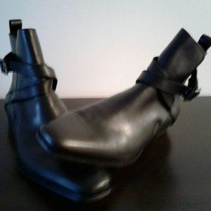 KENNETH COLE BOOTS FOR MEN (LEATHER BLACK SIZE 9)